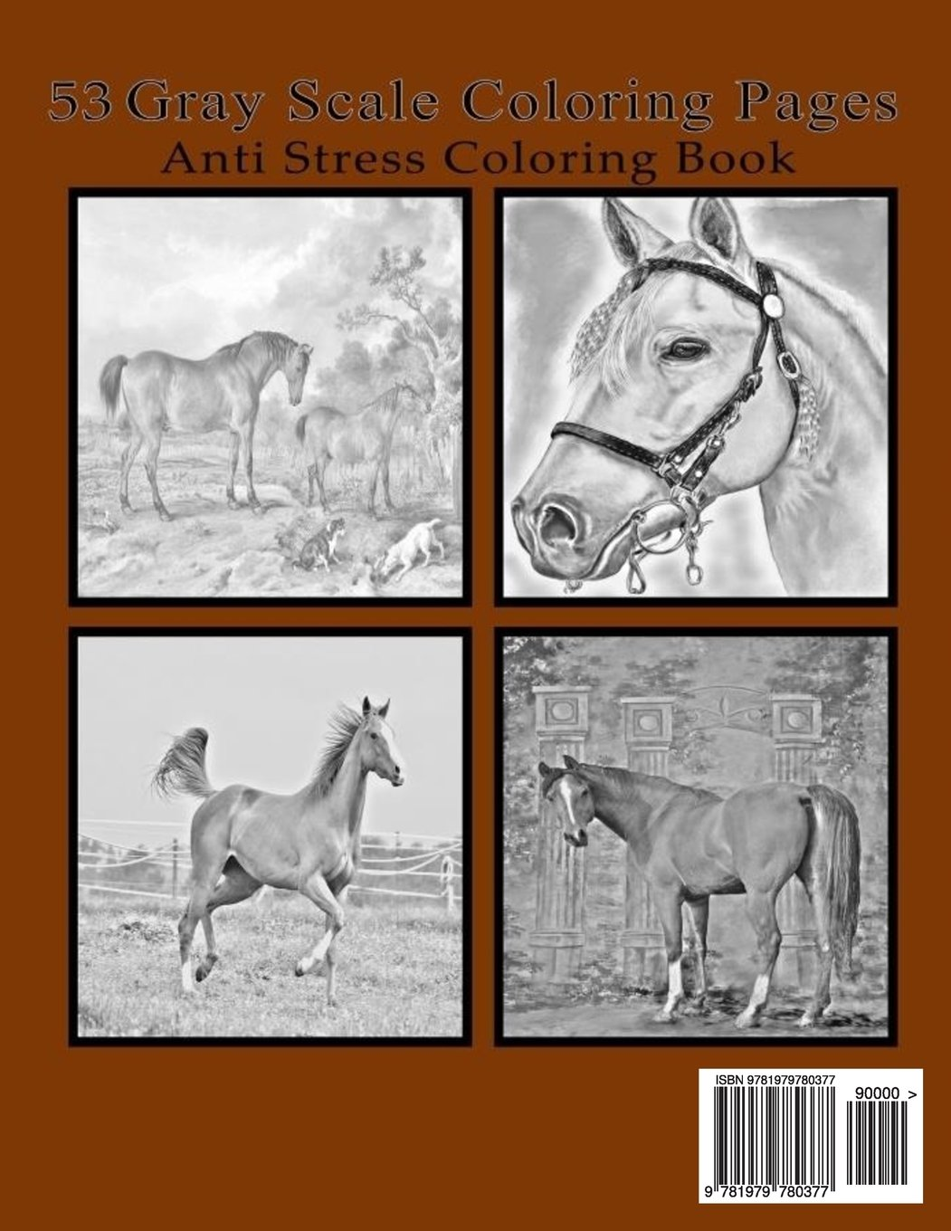 Horse Coloring Book For Adults Order Coloring Books And Notebooks