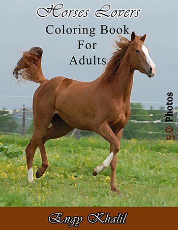 Horses Lovers Adult Coloring Book
