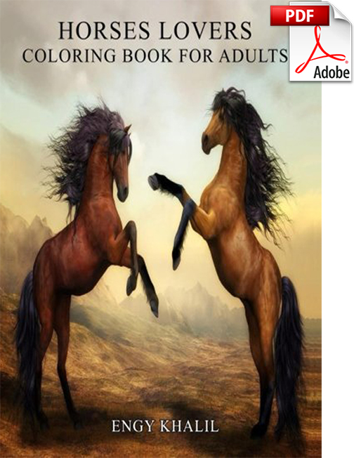 Horse Adult Coloring Book PDF