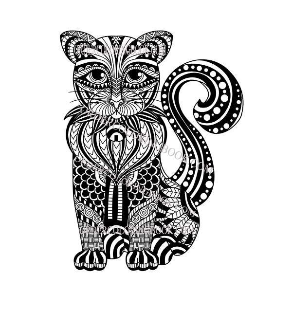 Cats Coloring Pages - Order Coloring Books and Notebooks